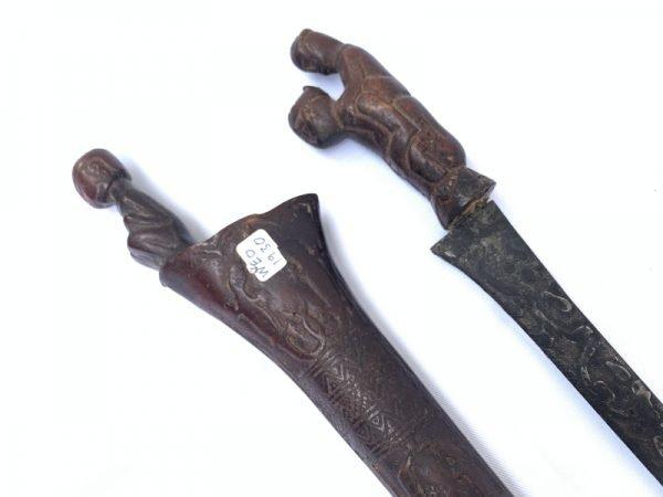 BATAK DAGGER 410mm KNIFE Keris Badik Badek Kris Samurai Sword Knife Martial Art Weapon #2