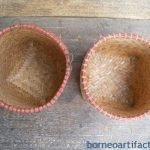 Male&#;FemalemmDayakWEDDINGBASKETWovenBakulContainerBorneoWeaving#