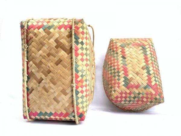 TRADITIONAL HANDBAG DAYAK BAG Weaving Woven Weave From Natural Rattan TREE SKIN