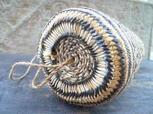 TRADITIONAL rattan AJAT SLING BAG Native Dayak Backpack Durable Daily Use Handbag #5