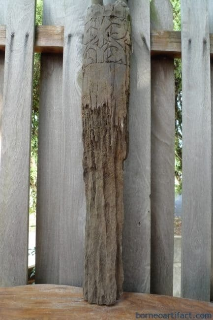 AMPUTATEDHEADmmHEADHUNTERStatuePoleErodedSculptureDayakDyakTribalOutdoorFigure
