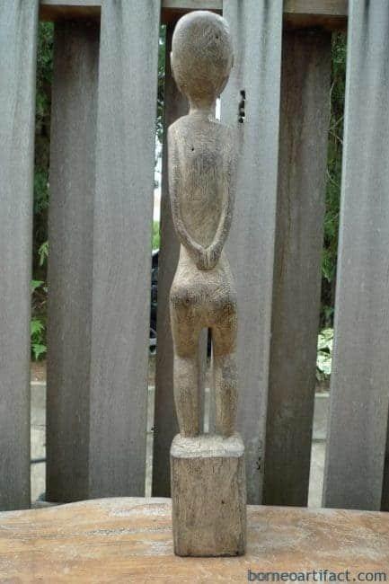 OLDmmDayakKAYANSTATUEBillionWoodFigureFemaleSculptureNativeTribalTribeBorneo