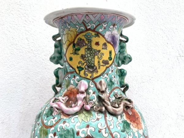 SELLING CHEAP peranakan vase Jar Phoenix and Peonies Flower Pot Pottery Feng Shui