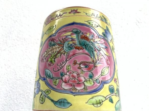 LARGE CHOPSTICK JAR Nyonya Baba Chinese Asia Restaurant Cafe Dining Kitchen