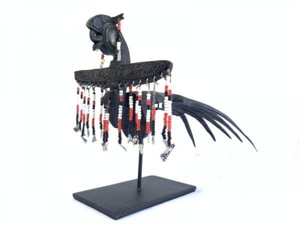 DAYAKCROWNmmBIRDSTATUEDyakBeluWomenHeaddressOldJewelrySculpture