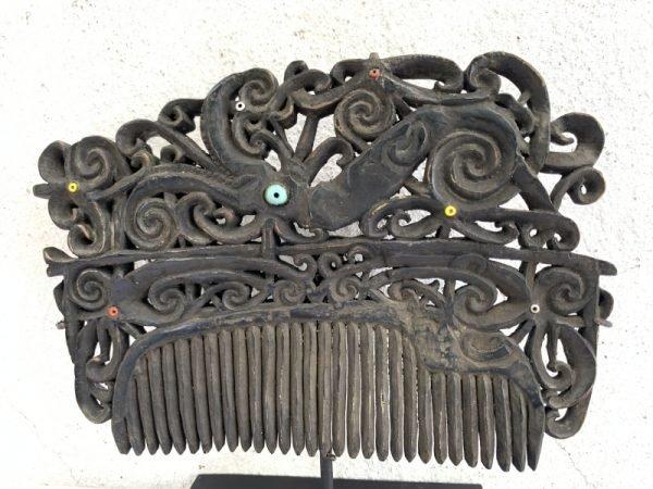 SUPER LARGE XXXL 185mm TRIBAL CROWN Comb Headdress Hairpin Old Jewelry Dayak