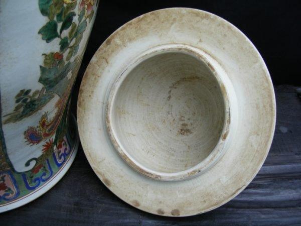 MASSIVE HUMAN SIZE 820mm Covered Pot Ginger Jar Dragon and Phoenix Vase Pottery peranakan home decor