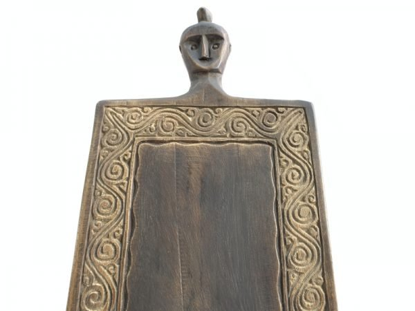 TRIBAL VINTAGE CUTTING BOARD 395mm Papan Hiris Indonesia Panel Carving Art Statue Figure