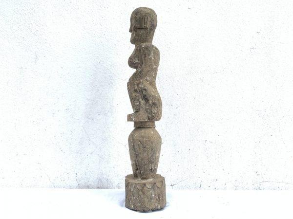 ANCESTRAL DAYAK KAYAN IRON WOODEN STATUE Figure Icon Image Sculpture Papua Borneo