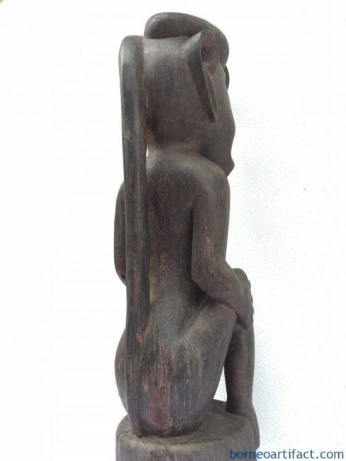 LARGESICKNESSSTATUEmmMelanauDayakFigureSculptureHardwoodTribal