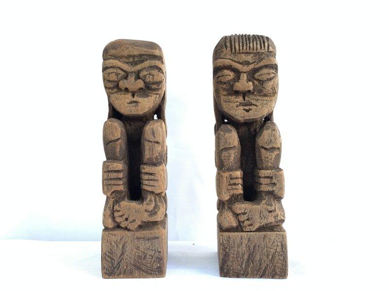 TRIBALARTmmDAYAKBAHAUStatueHumanPeopleFigureSculptureNativeAsia