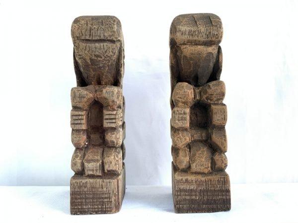 BORNEOHEADHUNTERmmDAYAKBAHAUStatueHumanPeopleFigureSculptureNative