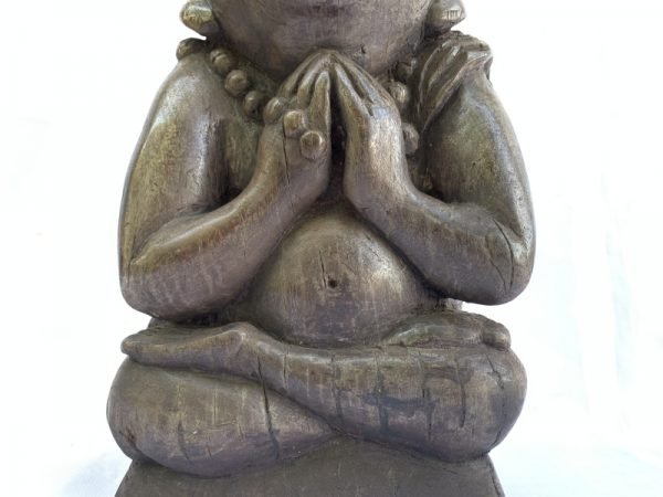 OLD WORSHIP STATUE 14 lb BUDDHIST BUDDHISM GOD Artifact Sculpture Figure Buddha