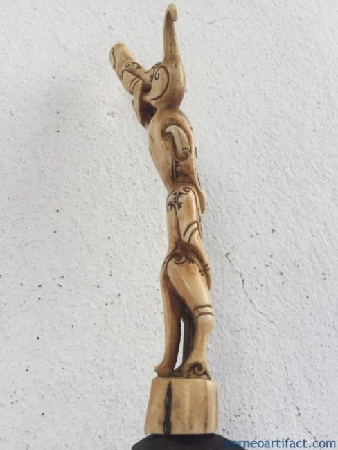 DEERHORNmmDAYAKBAHAUFETISHSTATUEARTIFACTFigureCarvingSculptureDyak