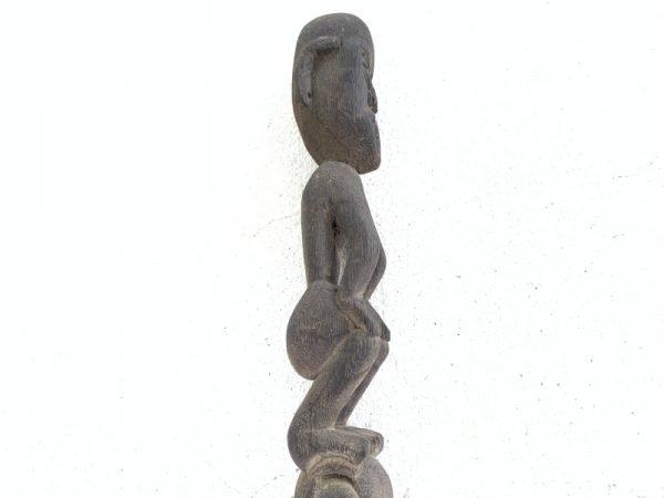 Hampatong GUARDIAN POLE 410mm ANTIQUE Tribal Statue Handmade Sculpture Eroded Primitive Figure