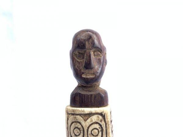 BATAK BONE CONTAINER 140mm Betel Nut Medicine Jewelry Tribal Box Figure