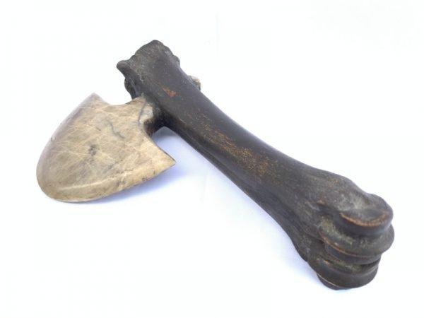 KAPAK JAWA 250mm JAW BONE TRIBAL AXE AX AXES WEAPON Hindu Stone Blade Knife