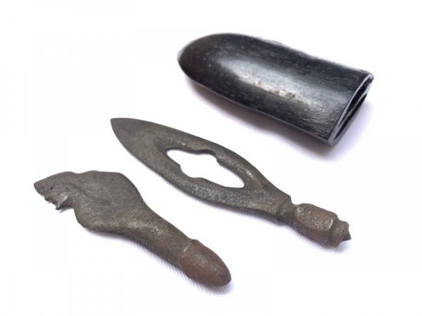 Miniature Keris DOUBLE BLADE 105mm KERIS OBAT DUKUN / MEDICINE KRIS Weapon Knife Sword Dagger