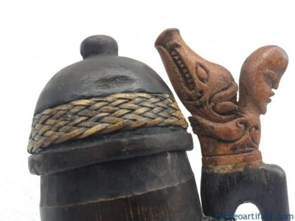 OLD BLOWPIPE QUIVER & NEW DARTS Hunting Traditional Tool Tribal Hunter Spear
