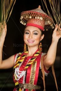 dayak girl in traditional costume
