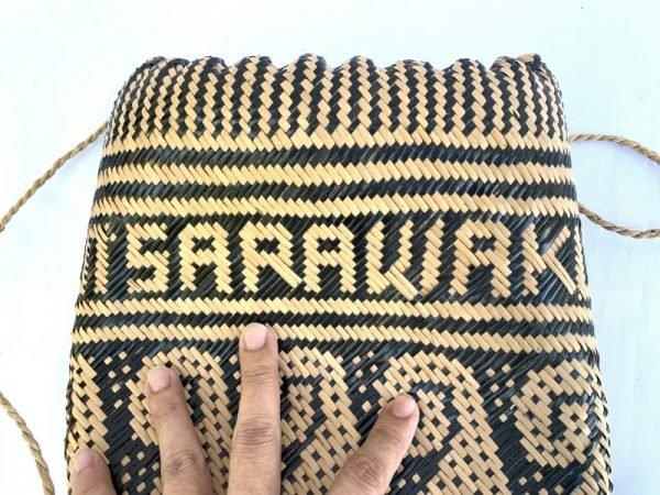 BRANDNEWAjat/NativeBASKETWovenSlingBagBackpackCampingTraditional#