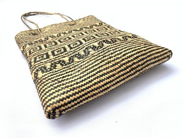 SHOULDER BAG 350x290mm Rectangular Tote Handbag Ajat traditional rattan bag Weaving Handmade Tribal #4