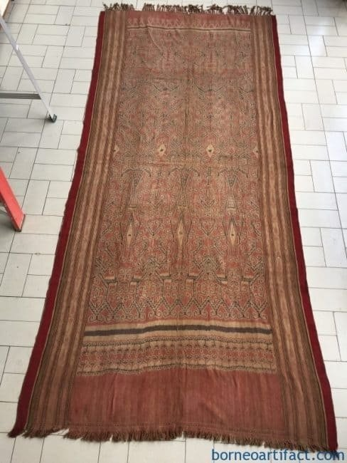 MASSIVE.meterTRIBALTEXTILEPuaKumbuTraditionalTribalBlanketBorneoAsiaOldAuthentic