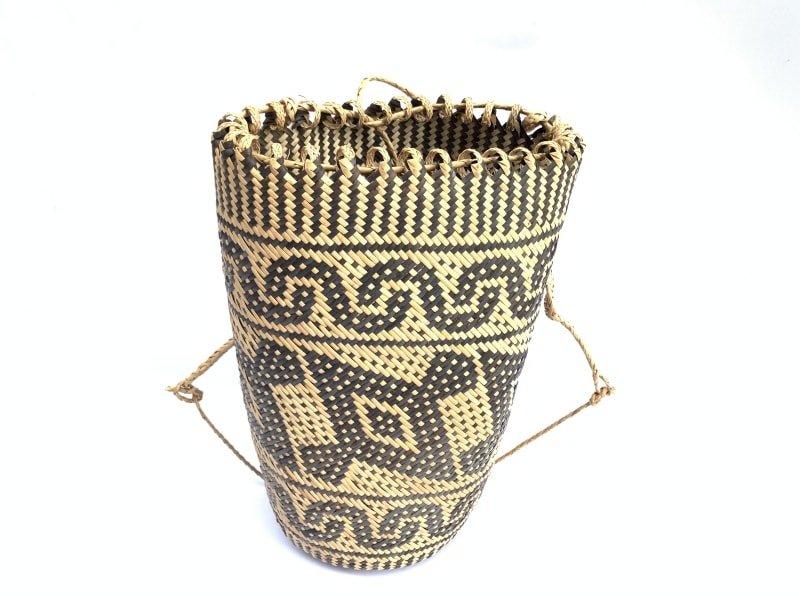 rattanajatmm(hornbillbirdpattern)handmadebagbackpackhandbagtribalcarrier#