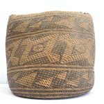 AUTHENTIC OLD BASKET (Large 250mm) Traditional Borneo Weaving Woven Fiber Art Rattan Bag #3
