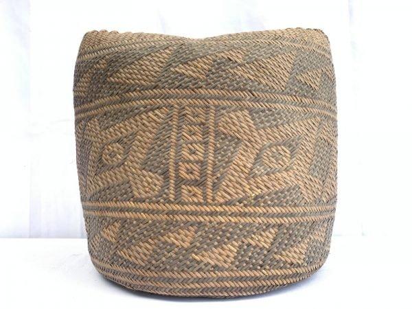 authenticoldbasket(largemm)traditionalborneoweavingwovenfiberartrattanbag#