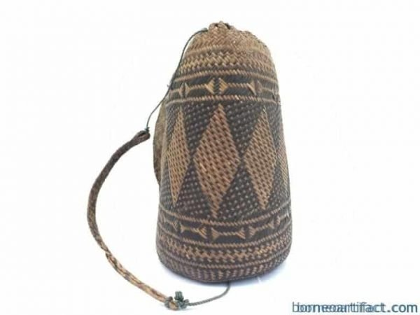 authenticoldbasketmmtraditionalborneoweavingwovenfiberartrattanbag#
