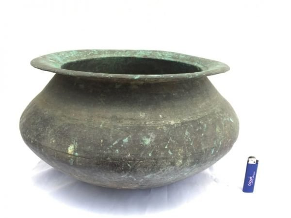 MEGASIZEmmLARGEAntiqueCopperCookingPotBowlKitchenAsianAsia