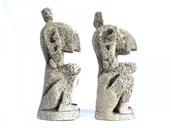 LETI STATUE (1 Pair) Figure Cultural Figurine Artifact Indonesia Oceanic Asian Art Culture