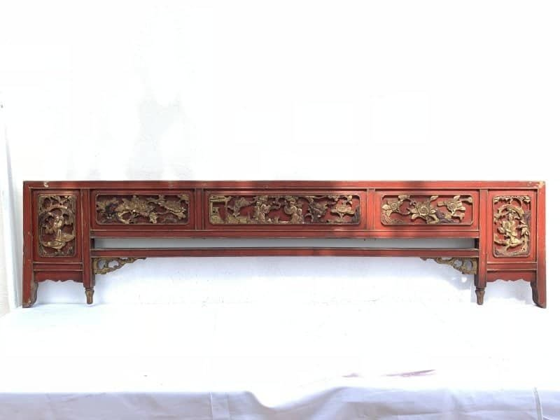Brilliant 5 Ancient Bed Famille Rose Panel Large 1880Mm Chinese Wood Carving Peranakan Bridal Asia Culture Antique Andrewgaddart Wooden Chair Designs For Living Room Andrewgaddartcom