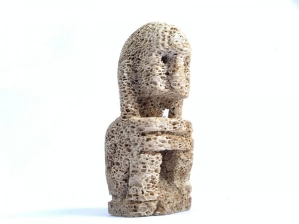 Raja Leti 90mm Miniature Sculpture Figure Figurine Statue Oceanic Art Tribal Asia