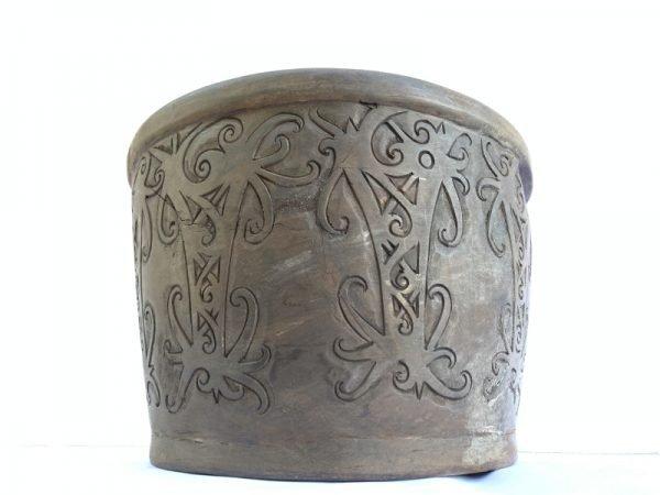 Tribal Handmade Bowl Hardwood Native Borneo Asia Asian Art Basin Interior Decor