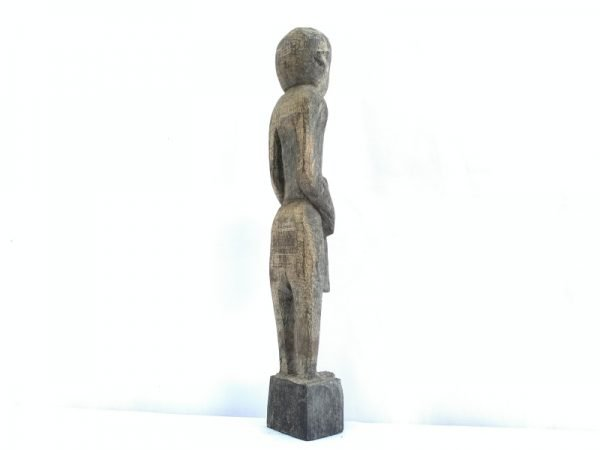 Authentic Antique Figure Aged indonesia Sculpture Kebayan Statue