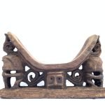 Rare ancient Pillow Headrest (290mm) Room Deco Korwar Vintage Artifact Statue Figure Figurine Asia
