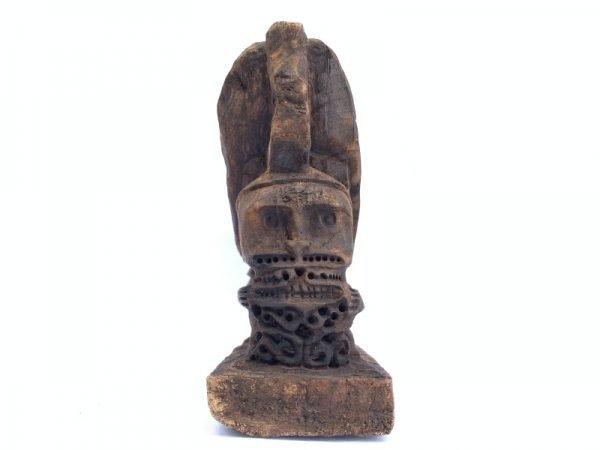 Rare ancient Pillow Headrest (290mm) Room Deco Korwar Vintage Artifact Statue Figure Figurine Asia