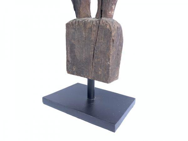 Male Guardian (840mm On Stand) Penis Fertility Statue Bahau Dayak Eroded Figurine
