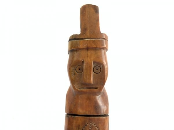 Bone Container (210mm On Stand)Timor Leste Object Statue Medicine Jelwery Box Indonesia Asia
