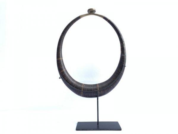 Kalabubu Necklace Jewelry (405mm On Stand) Polished Coconut Shell Jewel Pendant Tribal Asia