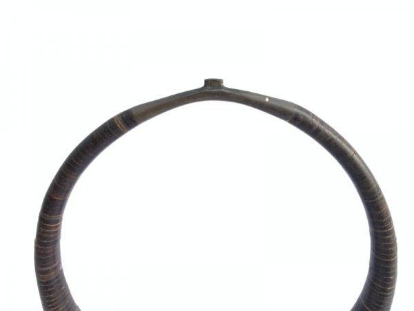 #2 Kalabubu necklace tribal (With Stand) Polished Coconut Shell Jewelry Jewel Pendant Asian Tribe