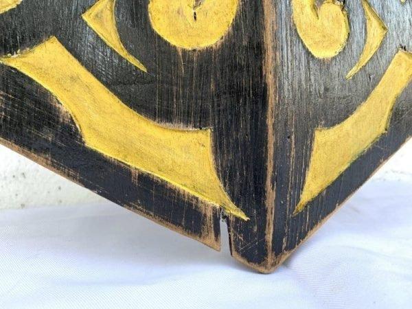 Hand Painted 1240mm Dayak Shield Ceremonial Terabai Armor Borneo Wood Carving Painting
