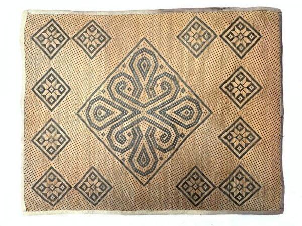 Dining Mat (740 x 540 mm) Old Rattan Panel Fiber Art Weaving Woven Painting Wall Deco