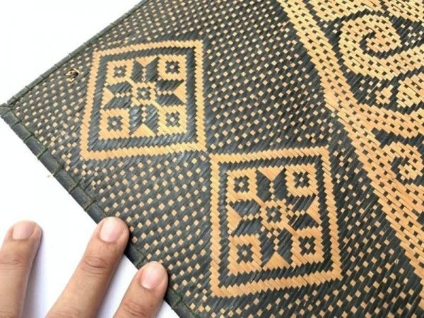 Rattan Panel 550 x 470 mm Wall Hanging Decor Fiber Art Weaving Woven