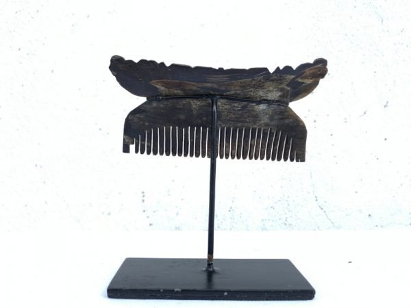 NATIVE HEADDRESS 110mm Tribal Hairpin Comb Buffalo Horn Body Ornament Jewelry