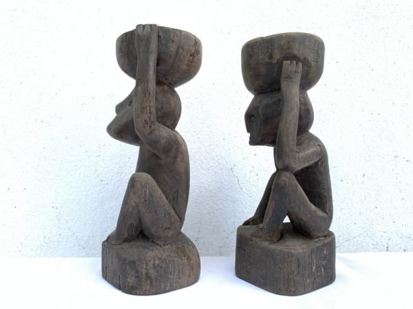 DAYAK EMBAWANG Candle Stand 220mm Statue Figure Sculpture Artifact Tribal Native Borneo