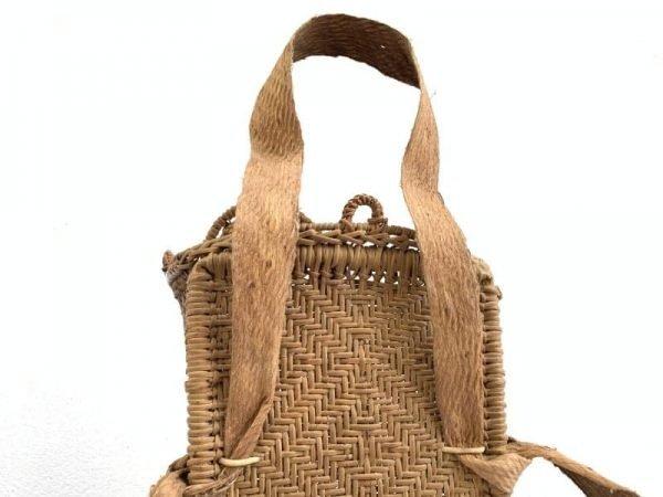 Farming Basket 680mm Traditional Rattan Tambok Backpack Weaving Bag Asia