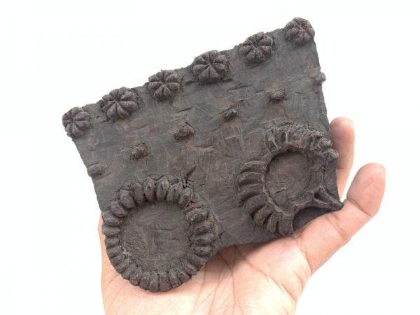 NEPAL NEPALESE Vintage Batik Stamp Antique Wooden Block Chop Textile Fabric Print Manaslu #6